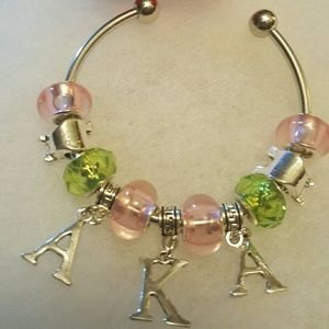 AKA Sorority Bangle Bracelet